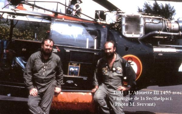 1981 MP pilote Servant et PM Chatinet devant l AL III 1455555555555555555