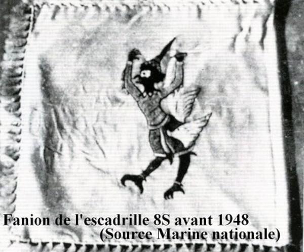 Fanion de l escadrille 8S avant l annee 1948