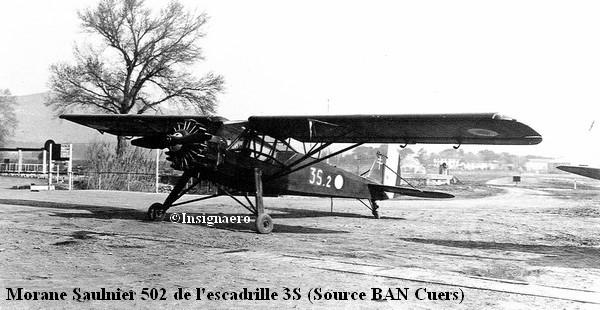 Morane Saulnier 502 de l escadrille 3S