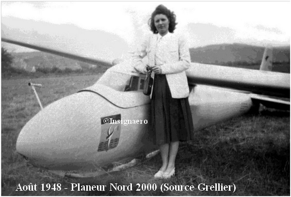 Planeur Nord 2000 de la 11S en. aout 1948