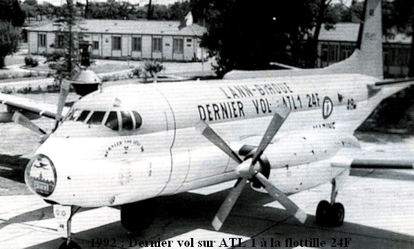1992. Retrait des ATL1 de la flottille 24F