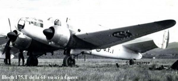 Vue a Cuers d un Bloch 175 T de la 6F