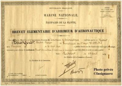 Photo brevet  papier d arrimeur