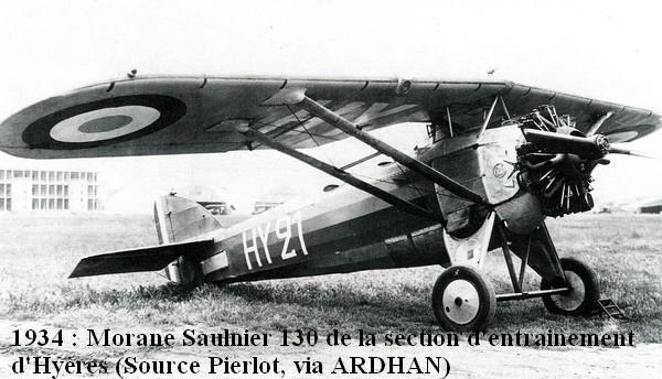 1934. Morane Saulnier de la S.E de Hyeres