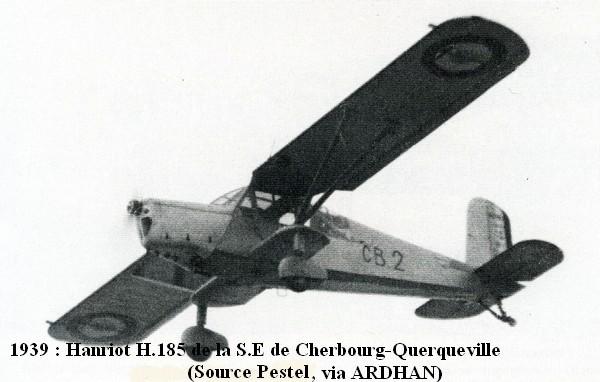 1939  Hanriot 185H de la SE Cherbourg Querqueville A1