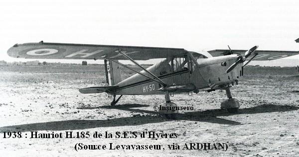 En 1938 Hanriot H.185 de la S.E de Hyeres