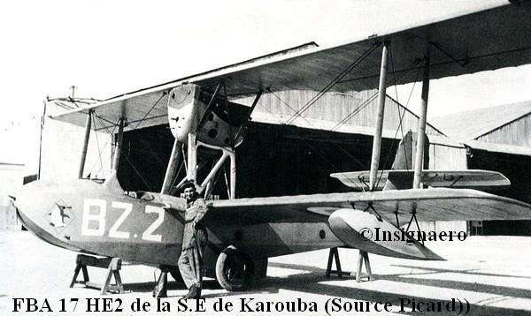 FBA 17 HE2 de la section entrainement de Karouba