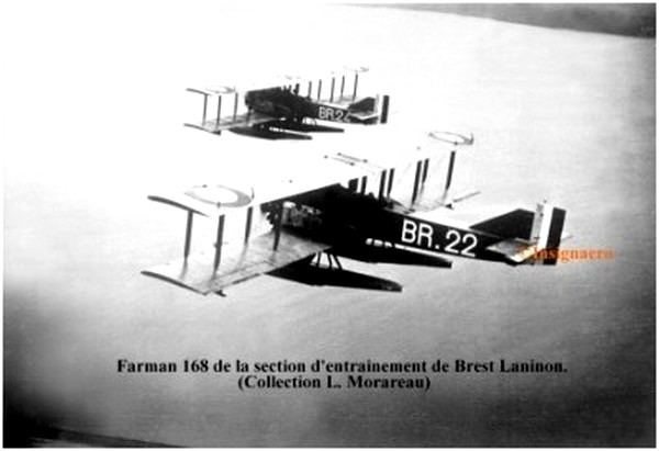 Farman 168 de la section entrainement bretonne
