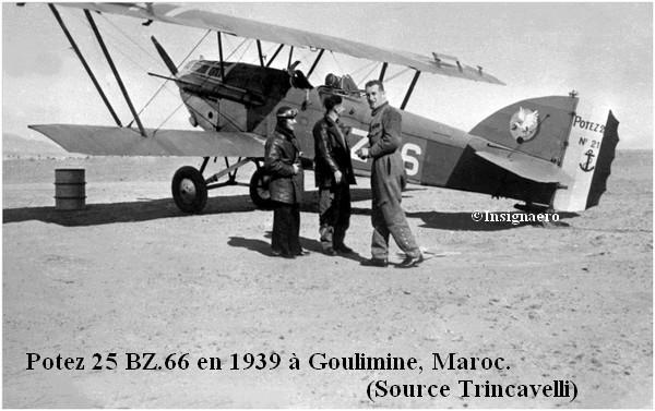 Potez 25 BZ.66 en 1939 a Goulimine au Maroc