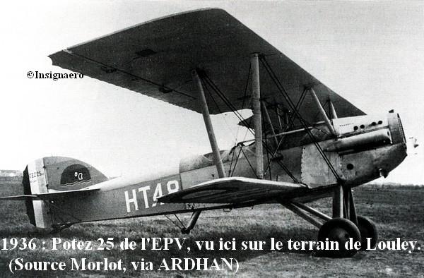 Potez 25 de l EPV sur le terrain de Louley en 1936