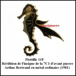 Flottille 11F reedition hippo decoupe en metal ordinaire Art. Bert