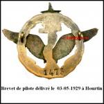 Brevet de pilote 1475