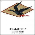 2R1 Metal tole peinte