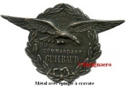 Commandant Guilbaud metal epinglette