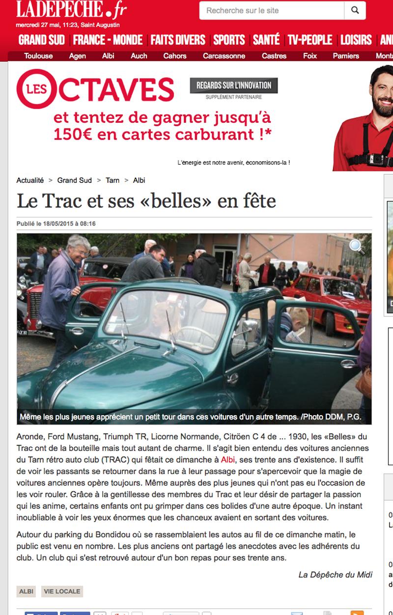 30ans  Pigne La Depeche