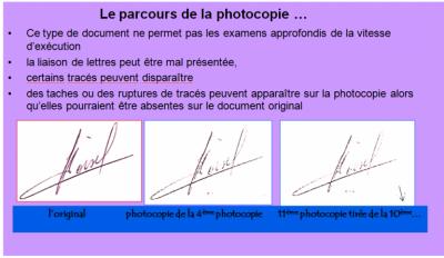 Le parcours de la photocopie