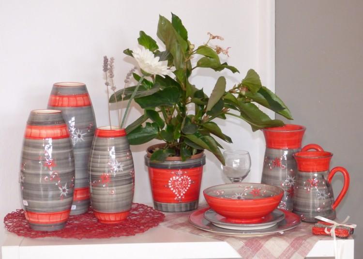ceramiques dominique nb vallauris rouge gris edelweiss
