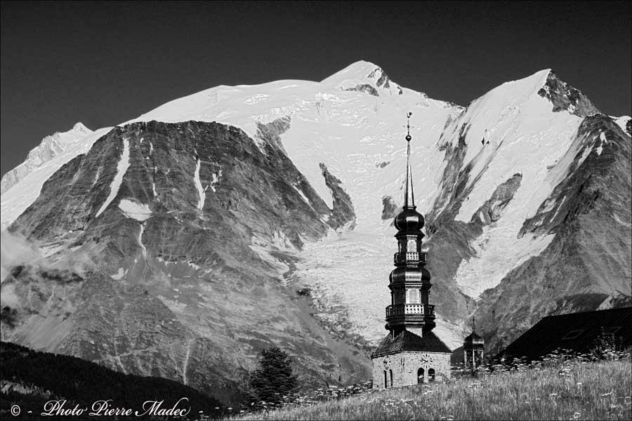 Le mont Blanc vu de Combloux