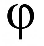 phi minuscule clavier