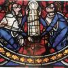 Vitrail St pierre d Angouleme Alienor et Henri II