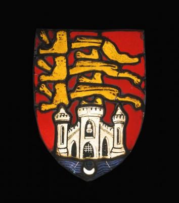 medieval vitrail armes de bordeaux gilson musee daquitaine