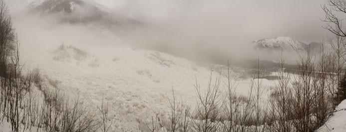 Avalanche du Bourgeat 1 hiver 2021