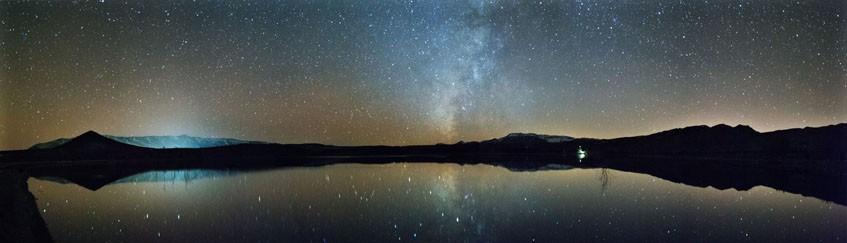 Lac Tislit nuit Haut Atlas Oriental