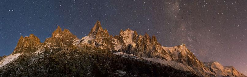 Sentier Plan de l Aiguille Montenvers 8 ete nuit