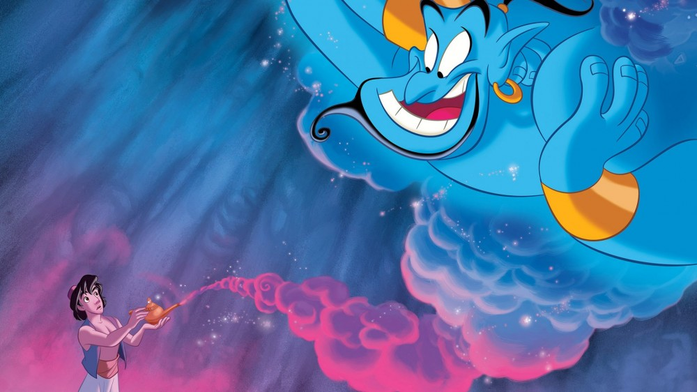 Aladdin and the spirit of magic lamp Disney Wallpaper Hd 2560x1600 1920x1080