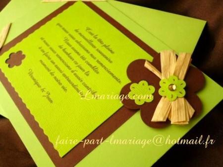 Carte de remerciement Bambou en chocolat et anis 015