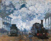 800px Claude Monet   The Gare Saint Lazare  Arrival of a Train