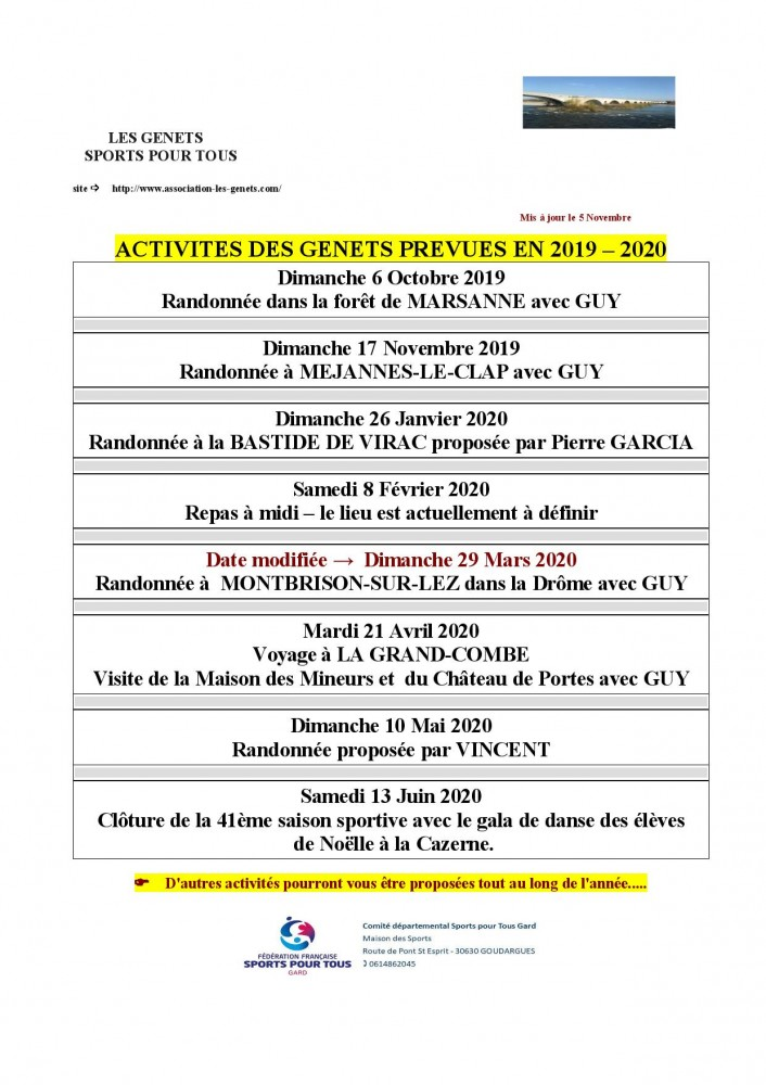 20191105 Planning des activites saison 2019.2020 page 001