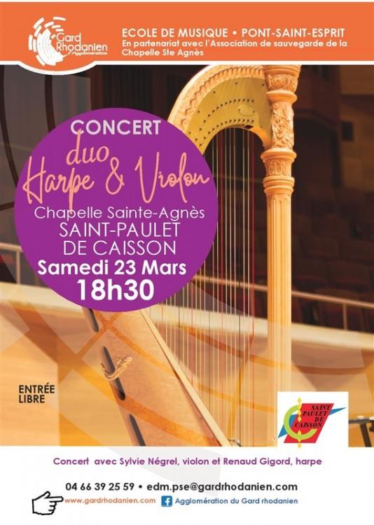 Concert duo harpe violon  23 mars 2019 St Paulet page 001