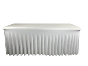 Nappe lycra rectangle juponnage blanche 300x225