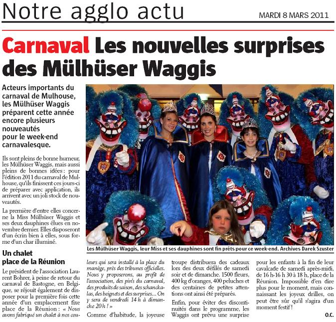 Article Alsace Carnaval de Mulhouse 2011