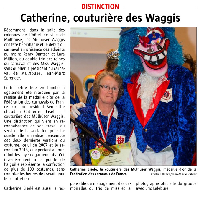 Article Alsace Medaille Catherine