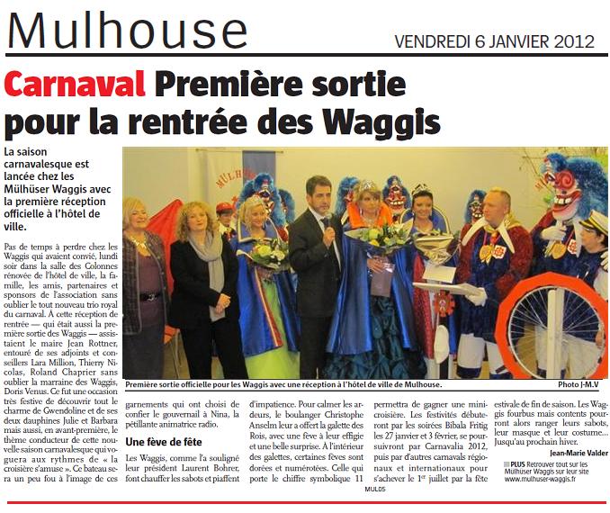 Article Alsace Reception 2012  les Waggis s  amusent