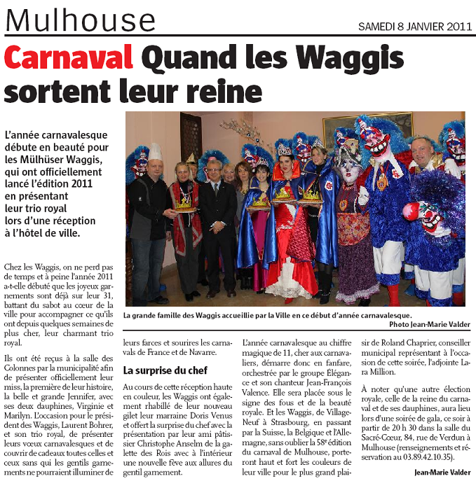 Article Alsace Reception Vive la Reine des Waggis