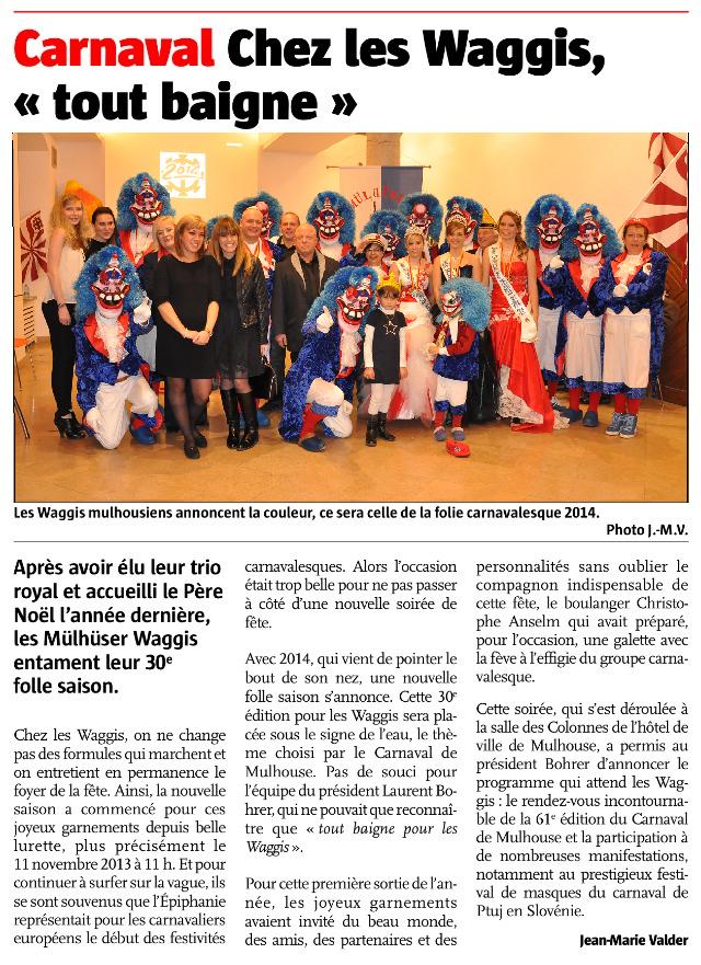 Article Alsace Tout baigne pour les Waggis