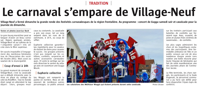 Article Alsace Village Neuf 2018