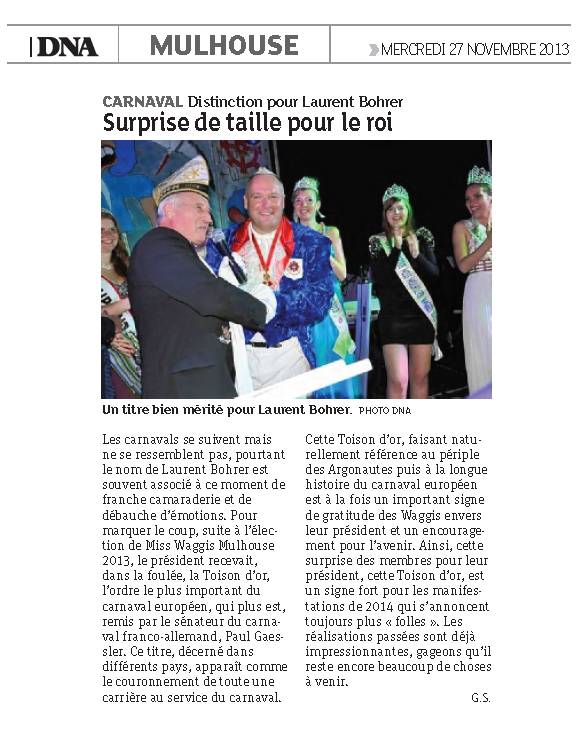 Article DNA Medaille 2013