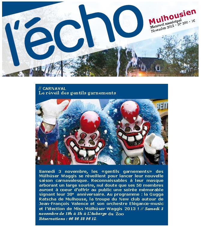 Article Echo Novembre 2012