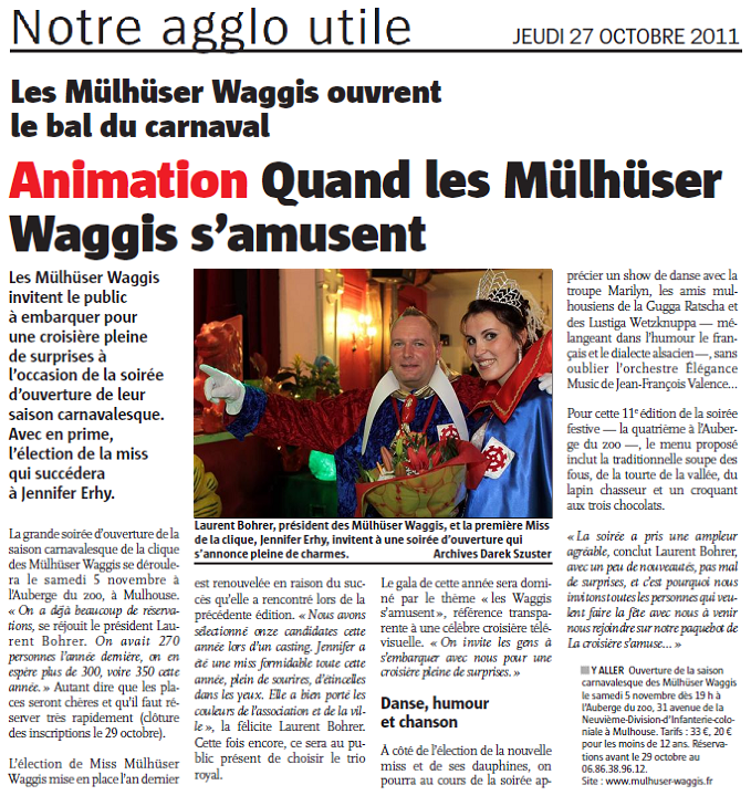 Article Les Waggis s  amusent