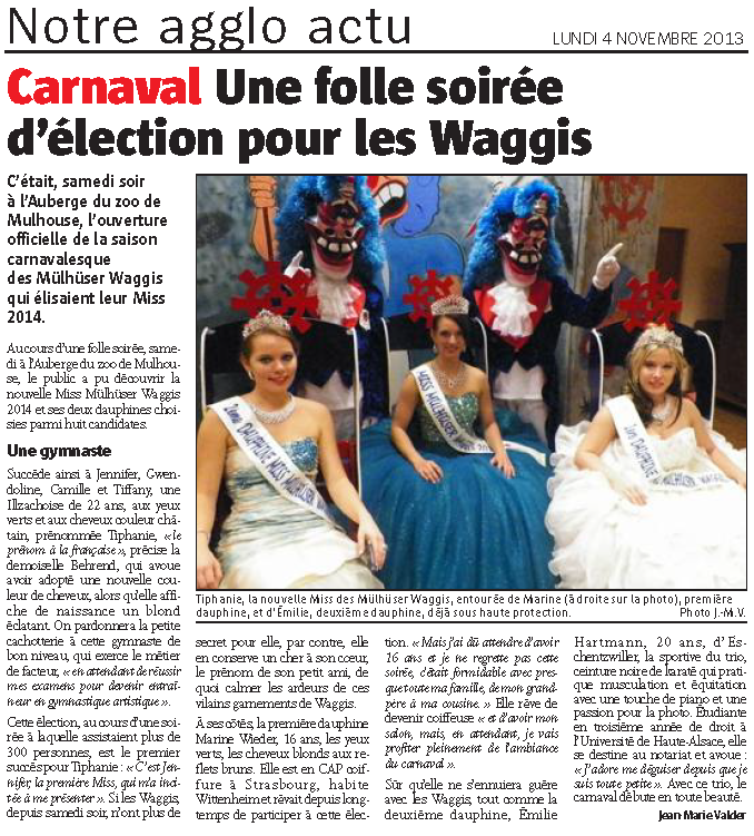 Article Miss 2014 Alsace
