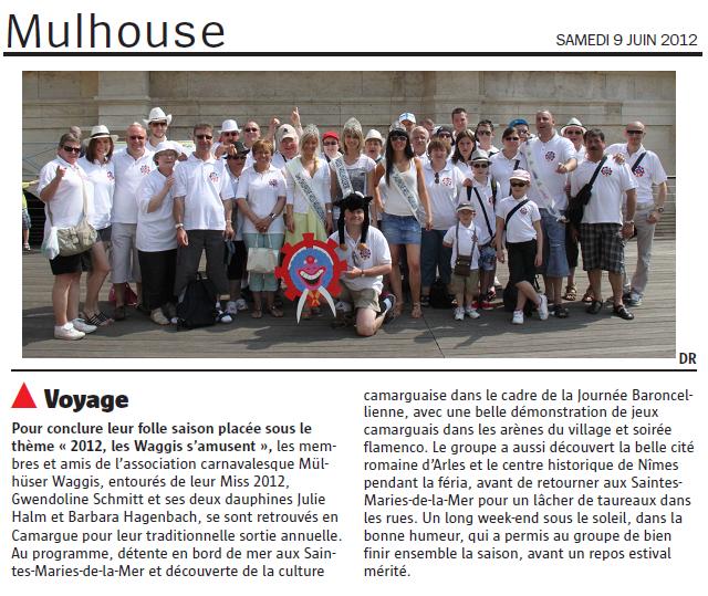 Article Sortie Annuelle 2012
