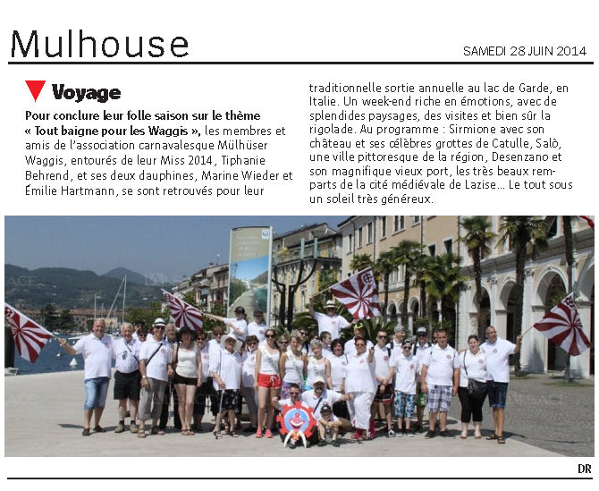 Article Sortie Annuelle 2014