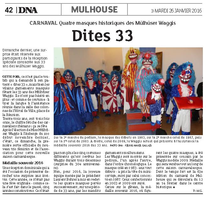 Article du Journal DNA 33e Anniversaire