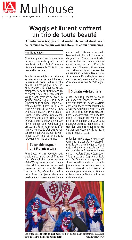 Article du Journal L Alsace Miss 2016 web