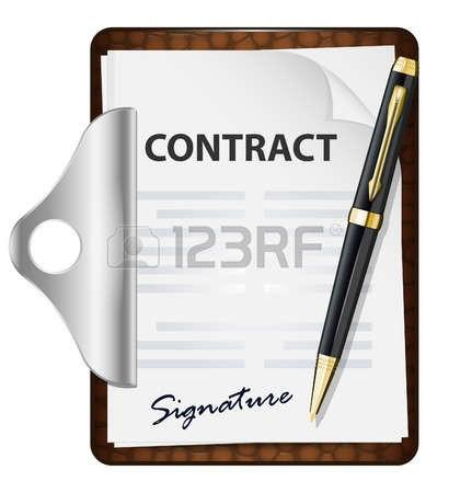 41654020 la signature du contrat vector icon