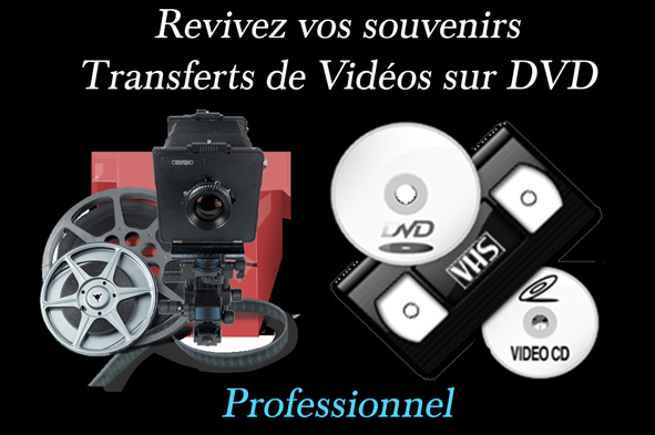 IMAGE TRANSFERT VIDEO NOIR  TEXTEpro